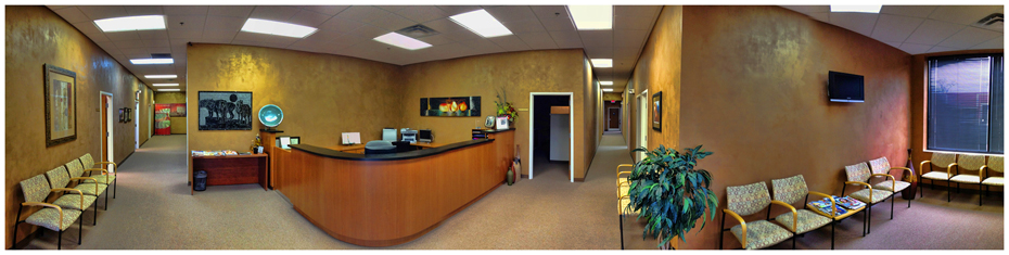 A panoramic image of the Wolf Group Offices in Cincinnati, Ohio.